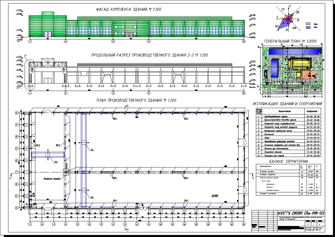 Архитектурно конструктивный проект промышленного здания ПГС  Архитектурно конструктивный проект промышленного здания